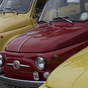 Classic Fiat 500s at isle of Wight Classic Car Show 2016